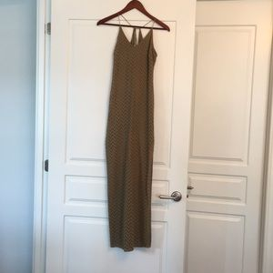 Guess olive green knit maxi dress